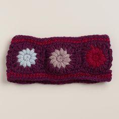 Purple Wool Head Warmer | World Market