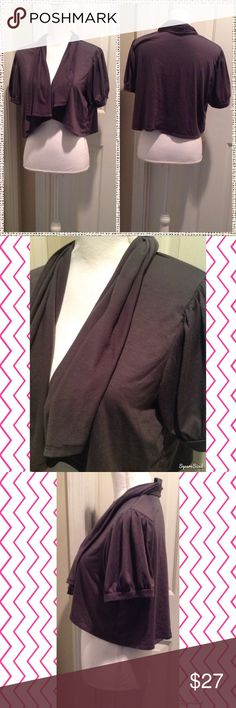Gray Plus Size Shrug Size: 1X. 67% Polyester, 28% Rayon and 5% Spandex. Sweaters Shrugs & Ponchos