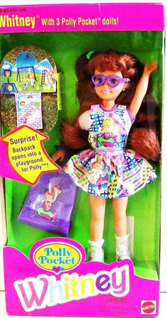 Polly Pocket Whitney now mix Polly pocket and barbie and you get this