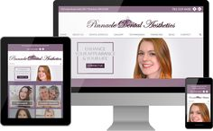 Pinnacle Dental Aesthetics | www.pinnacledentalaesthetics.com | Boston, MA | The recently updated practice website design delivers a premier online experience.  The home page image is a photo of an actual patient who visited Pinnacle Dental Aesthetics for her smile treatment. Pictures of real patients play a major role in the updated design, from banner images, to before-and-after photos and TMJ treatment to imagery accompanying the testimonials.