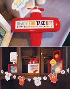 Go Baby, Go! Baby Shower {Part 2   Decor, Truck Diaper Cake & Tablescape}