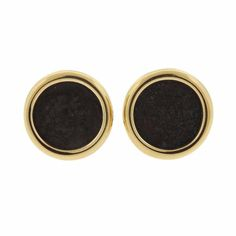 Bulgari Gold Ancient Coin Earrings