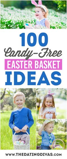 100 amazing Non-Food and Candy-Free Easter basket ideas that your kids will love!! www.TheDatingDivas.com