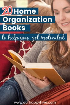 20 Home Organization & Decluttering Books – To Help You Get Motivated - Our Happy Hive I didn't know where or how to start decluttering. I lacked motivation and couldn't find the tim Declutter Books, Declutter Home, Organizing Your Home, Decluttering, Book Organization, Home Organization Hacks, Organizing Ideas, The Home Edit, Getting Rid Of Clutter