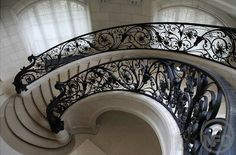 #staircase #steps #castiron #banister #stairs #curving