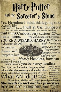 While reading this, I could finish every quote without actually having to read it. And I could picture exactly where they were when they said each quote. Gotta love HP :)