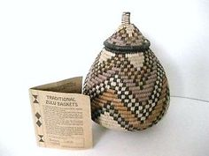 Woven Traditional Zulu Large Container With LID Handwoven SO Africa NEW W TAG   eBay