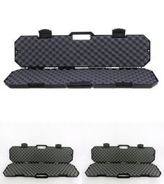 Case Safe Storage Gun Rifle Case Black Tactical AR-15 Hard sided Accessory #Condition1