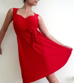 812d99cc6d 25 Red Sundress Ideas That You Can Copy For Any Occassion