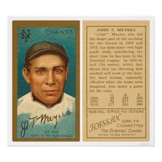 BEST PLAYERS 1910-1920  Catcher: Chief Meyers | Cigarette card