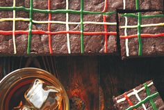 Christmas Tartan Brownies recipe - Canadian Living  These are the best!!!!