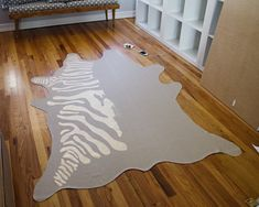 The Infamous Faux Zebra Rug DIY @ brittanyMakes