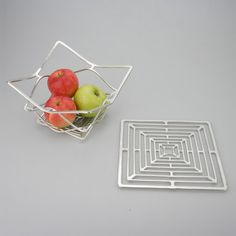 Kago Bendable Pure Tin Basket