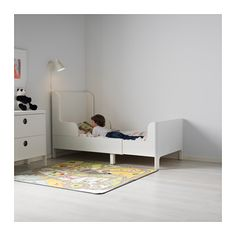 BUSUNGE Extendable bed, white 37 3/4x74 3/4
