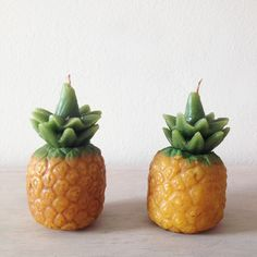 While we're typically drawn to simple neutrals, we are keen to incorporate these candles into our curated collection of ethically handmade goods because… pineapples! Simply scented with 100% natural beeswax and tinted with natural dyes, these artisan-made pieces are made with custom molds, expert hands and signify piña coladas forever. Now, if you'd be so kind, could you please pass us that tiny paper parasol? More info on our site: www.hecho-shop.com