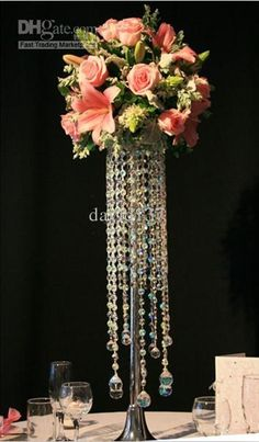 cee50bd8576 Crystal Chandelier Table Top  Wedding Tale Chandelier  Wedding Centerpiece   Table Centerpiece  Crystal Decorative Baby Shower Party Supplies  Bachelorette ...