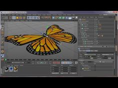 Cinema 4D Tutorial on CMotion, Cineware, After Effects, Particular - Magic Butterfly - YouTube