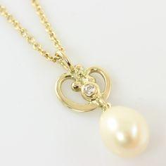 Galleri Castens - Guld vedhæng med perle