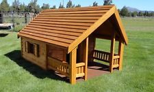 Country Cottage Dog House - Medium wood dog house - Insulated custom dog house
