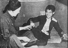 Bruce filming An Orphan's tragedy back in 1955