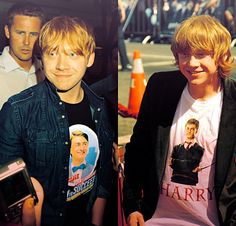 HOW ARE YOU THE WAY YOU ARE WITH YOUR DANIEL RADCLIFFE SHIRTS UGH RUPERT YOU ARE AKFALKSDJFHASKDF BEAUTIFUL