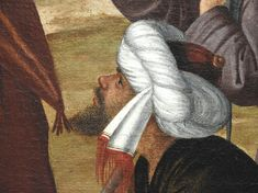 Details of painting Portraits, Artwork, Painting, Turbans, Beard Hat, Holy Land, Men Portrait, Dog, Face