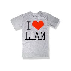 One Direction I Love Liam Payne Gray Shirt - All Sizes Available ($15) ❤ liked on Polyvore