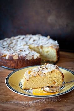 When I hear about mix of ricotta cheese with lemon, I start drooling-)) This cake has everything and more: it is flour-less with almond m...