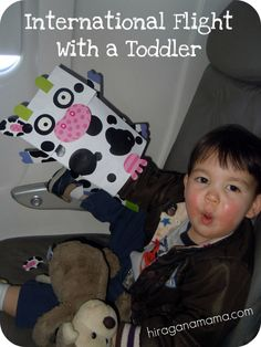 Excellent tips and ideas for flying internationally with young children