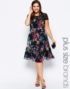 Vestidos floreados para gorditas 2014 de Asos