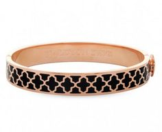 #HalcyonDays bangle with black and #rosegold. Gorgeous bangle alone or with the entire collection!