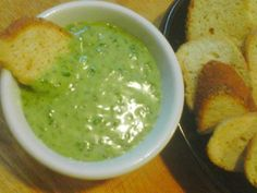 Garlic Spinach Cheese Fondue (The Stinking Rose Rest.)   This is from the cookbook of the Stinking Rose Restaurant in LA.  I use this as a spread adding more spinach to it, on top of toasted baguette slices. I also cut in half because i am only 1 person normally.