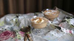 Petite Kitchen's salted banana and almond butter caramel mousse - Eleanor Ozich of Petite Kitchen creates a silky, naturally sweetened mousse Egg Free Desserts, Healthy Dessert Recipes, Healthy Baking, Raw Food Recipes, Just Desserts, Sweet Recipes, Delicious Desserts, Vegan Desserts, Healthy Food
