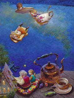 Victor Nizovtsev nos tiene enamorados con sus imagenes de momentos té surrealista