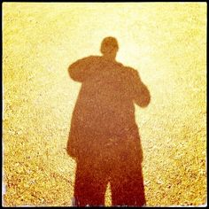 January 6th 2014. Self Portrait In Strong Sunlight – A Shadow Of A Man