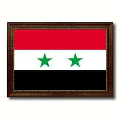 Syria Country Flag Canvas Print, Picture Frame Home Decor Gifts Wall