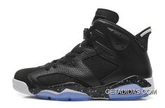 a676d426769 Air Jordan 6 Black Oreo Black White Speckled-Icy Blue Sole TopDeals 768008
