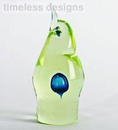 Murano-Sommerso-Cenedese-URANIUM-Freeform-Art-Glass-Bird-Antonio-Da-Ros-Label