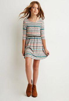 Tribal Print Bow-Back Dress (Kids)   Forever 21 girls - 2000082198