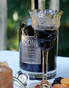 Nocino Walnut Liqueur is wonderful with the Walnut Cake with Cinnamon and Clove