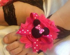 Minnie Mouse Barefoot baby sandals