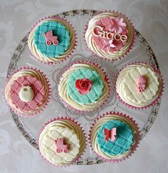 Christening Cupcakes for Grace