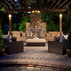 outdoor fireplace idea