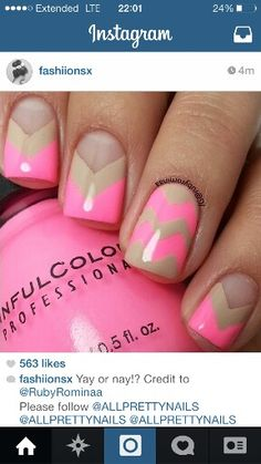 All pale pink with gold chevron on one finger instead of this