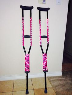 how to secorate crutches | Decorated crutches. Simple and easy. Just choose your favorite duct ...