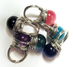 vintage lucite button rings