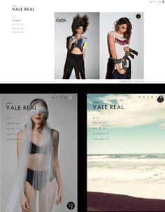 Vale Real es Fotógrafa de moda y artística.  Armado de sitio en html5 y logo.