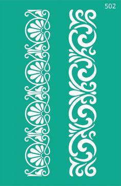 Laser Cut Patterns, Stencil Patterns, Stencil Designs, Pattern Art, Decorative Metal Screen, Motif Arabesque, Alpona Design, Cnc Cutting Design, Fabric Paint Designs