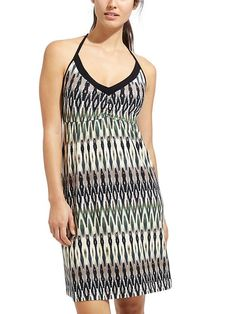 Printed Restoration Dress - The perfect dress up option for beach vacation dinner, this strappy-back dress is made from dreamy soft MicroModal® jersey and features an under-bust band with removable cups for support.