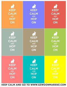 Keep Calm and Hop On - FREE Easter Printable!